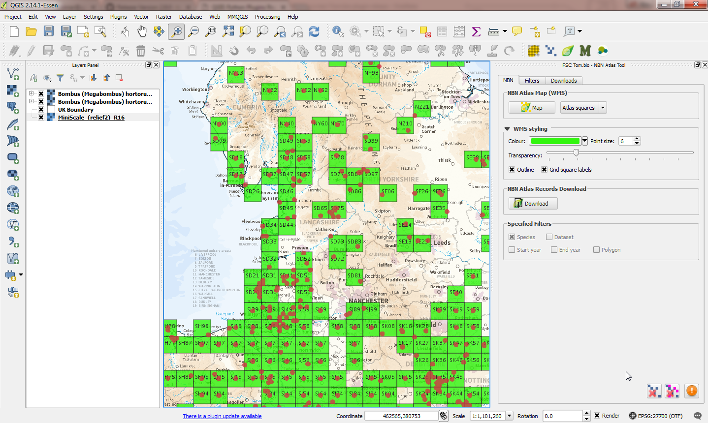 The NBN Atlas Tool for QGIS | Biodiversity Projects